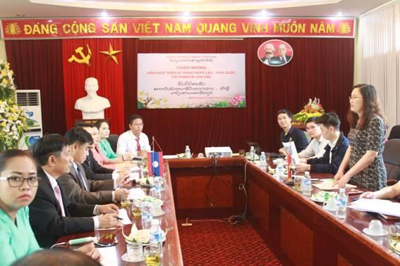 Viện phát triển Kỹ năng nghề Lào – Hàn Quốc thăm và làm việc tại Trường Đại học Sư phạm kỹ thuật Vinh